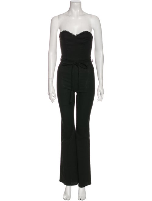 Stone Cold Fox Strapless Jumpsuit Black