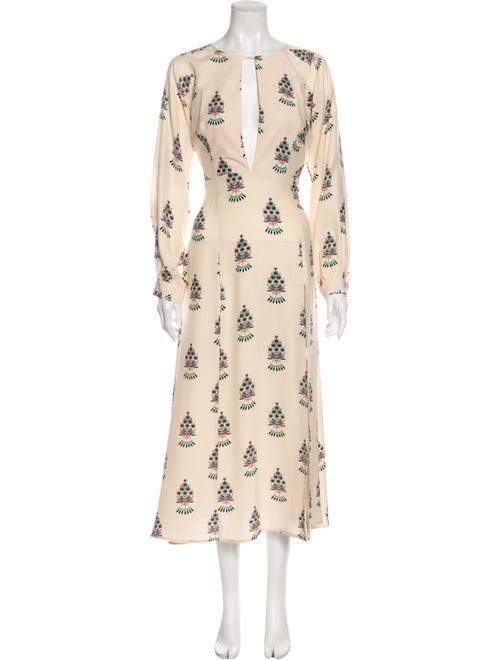 Stone Cold Fox Silk Long Dress Brown