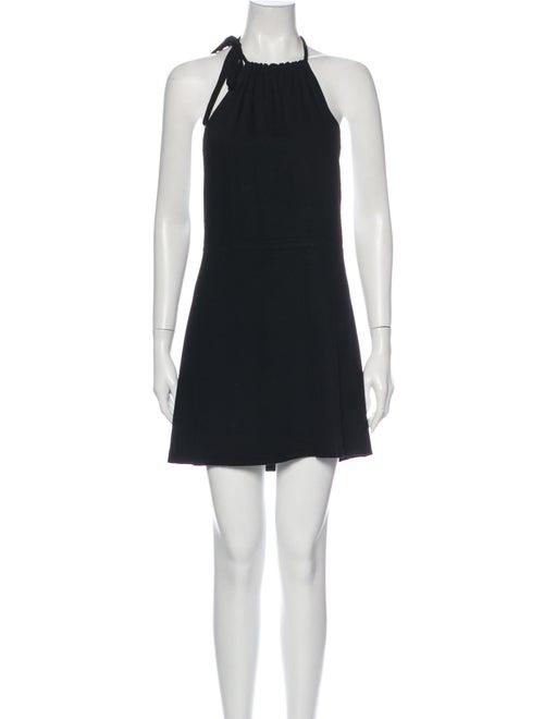 Stone Cold Fox Halterneck Mini Dress Black