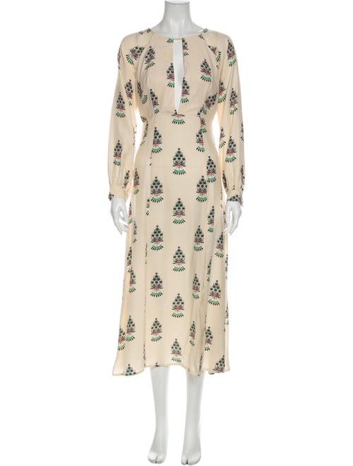 Stone Cold Fox Silk Long Dress