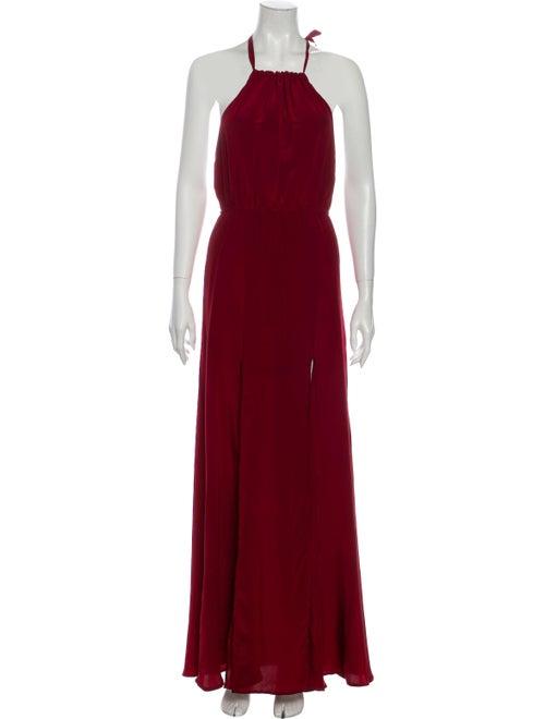 Stone Cold Fox Silk Long Dress Red
