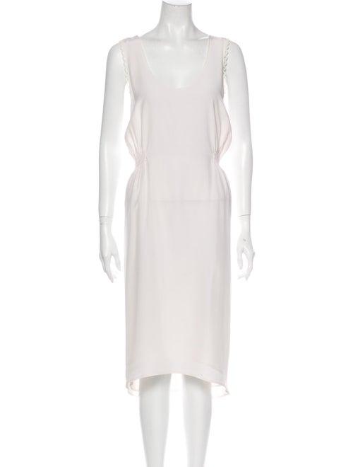 Stone Cold Fox Scoop Neck Midi Length Dress White
