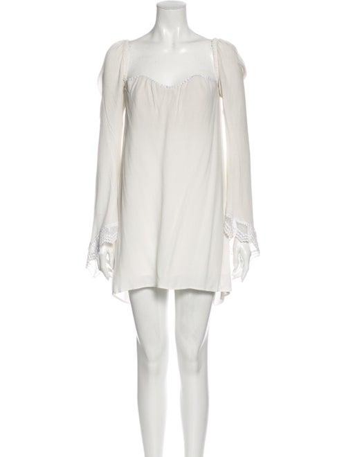 Stone Cold Fox V-Neck Mini Dress White
