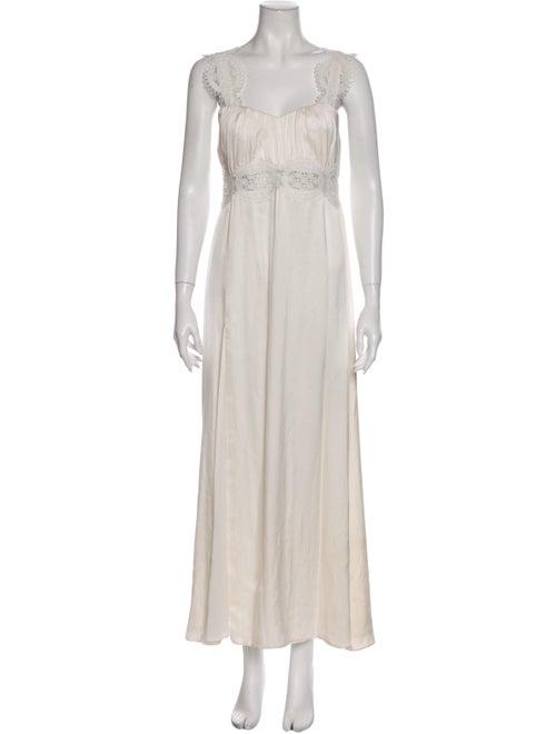Stone Cold Fox Silk Long Dress White