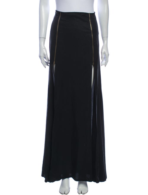 Stone Cold Fox Long Skirt Black