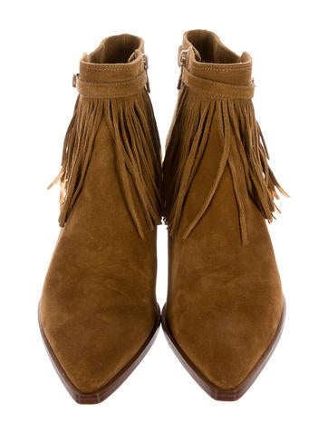 Lena Fringe Ankle Boots w/ Tags