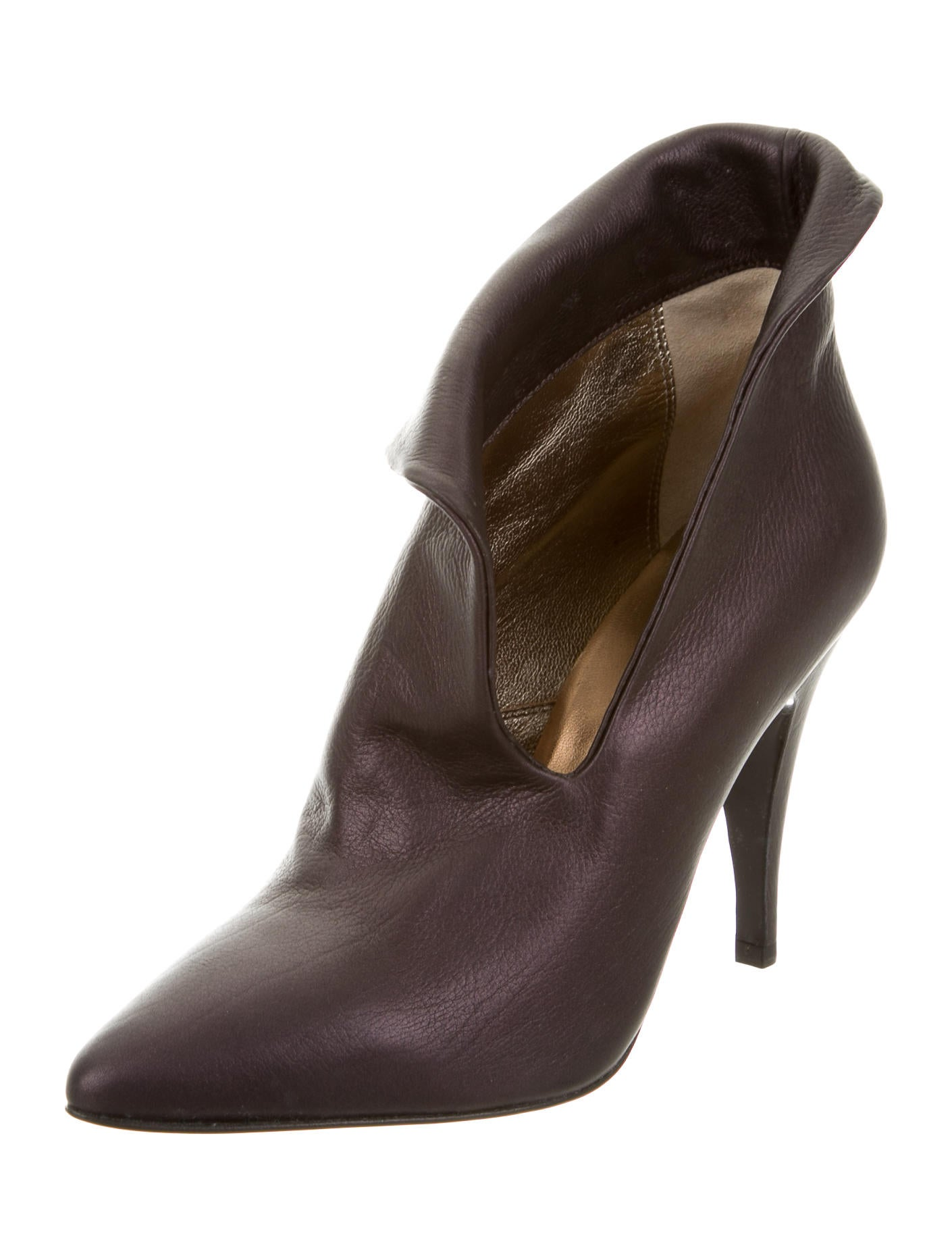 sigerson morrison leather pointed toe ankle boots shoes