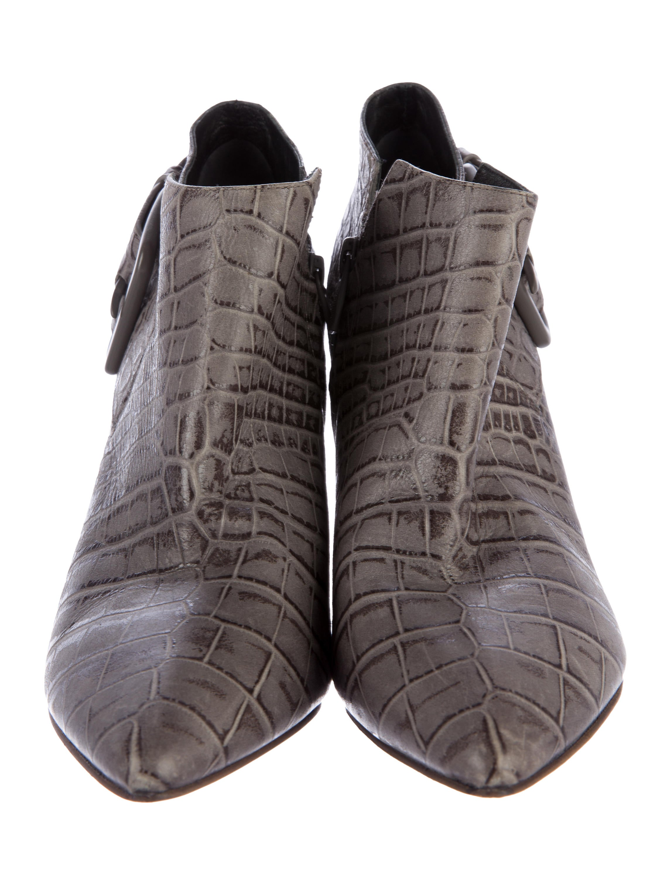 sigerson morrison embossed leather ankle boots shoes