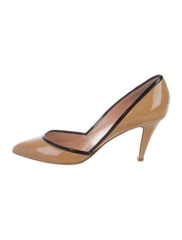 Sigerson Morrison Patent Leather Pointed-Toe Pumps None