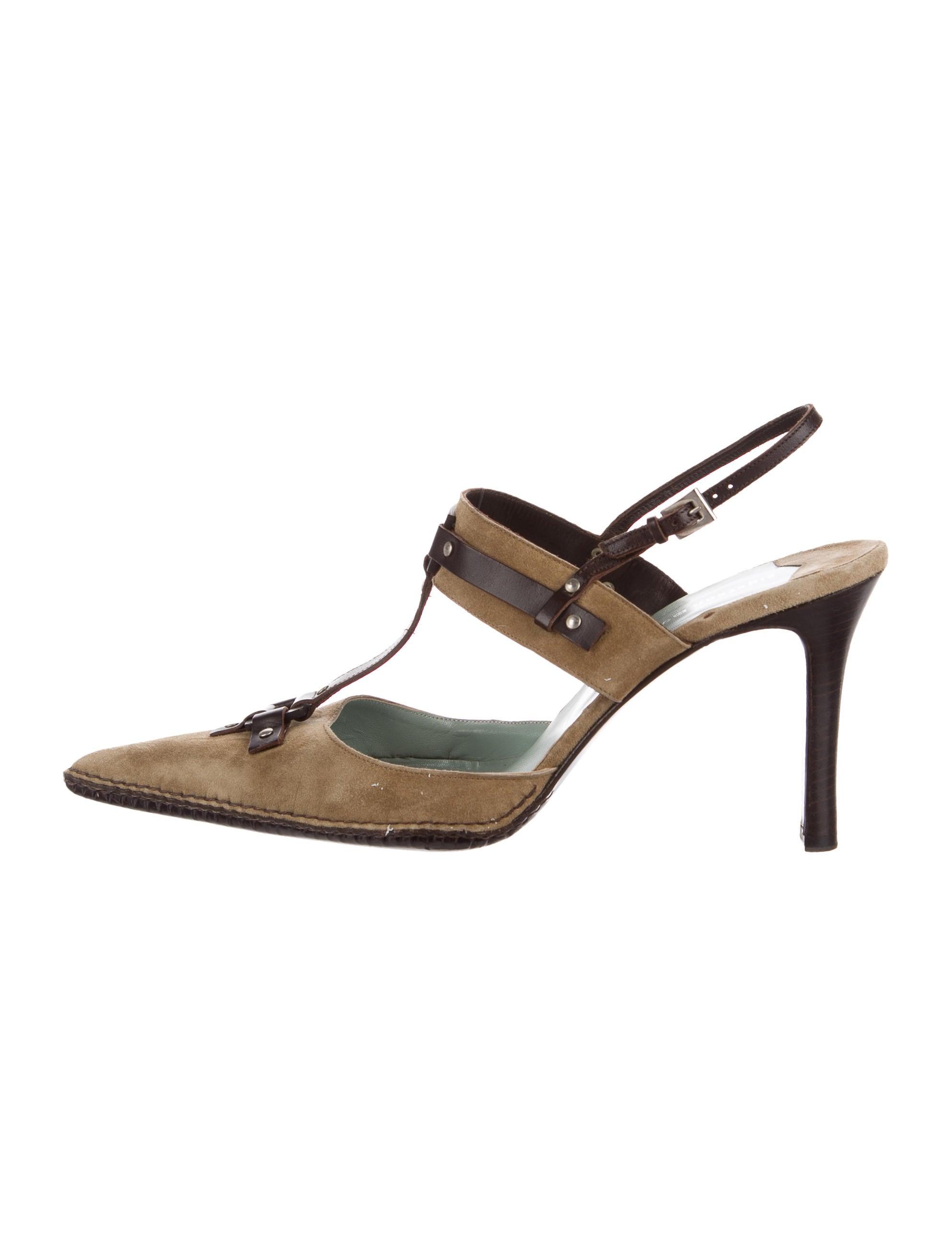 sigerson morrison suede t strap pumps shoes wsg20692 the realreal. Black Bedroom Furniture Sets. Home Design Ideas