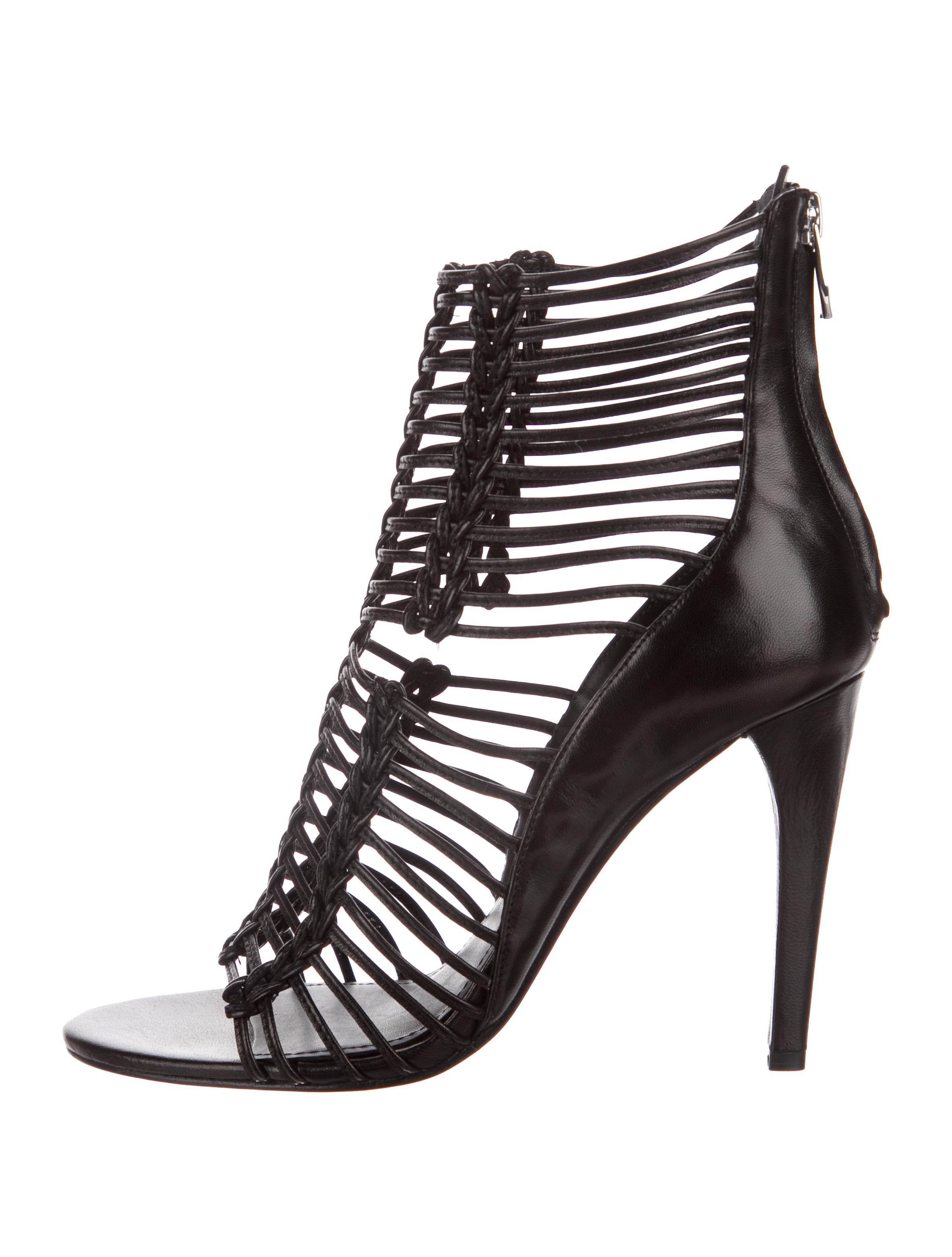 Sigerson Morrison Leather Cage Sandals w/ Tags release dates cheap price sale best wholesale buy cheap official site recommend for sale buy cheap newest SEwcPcdS