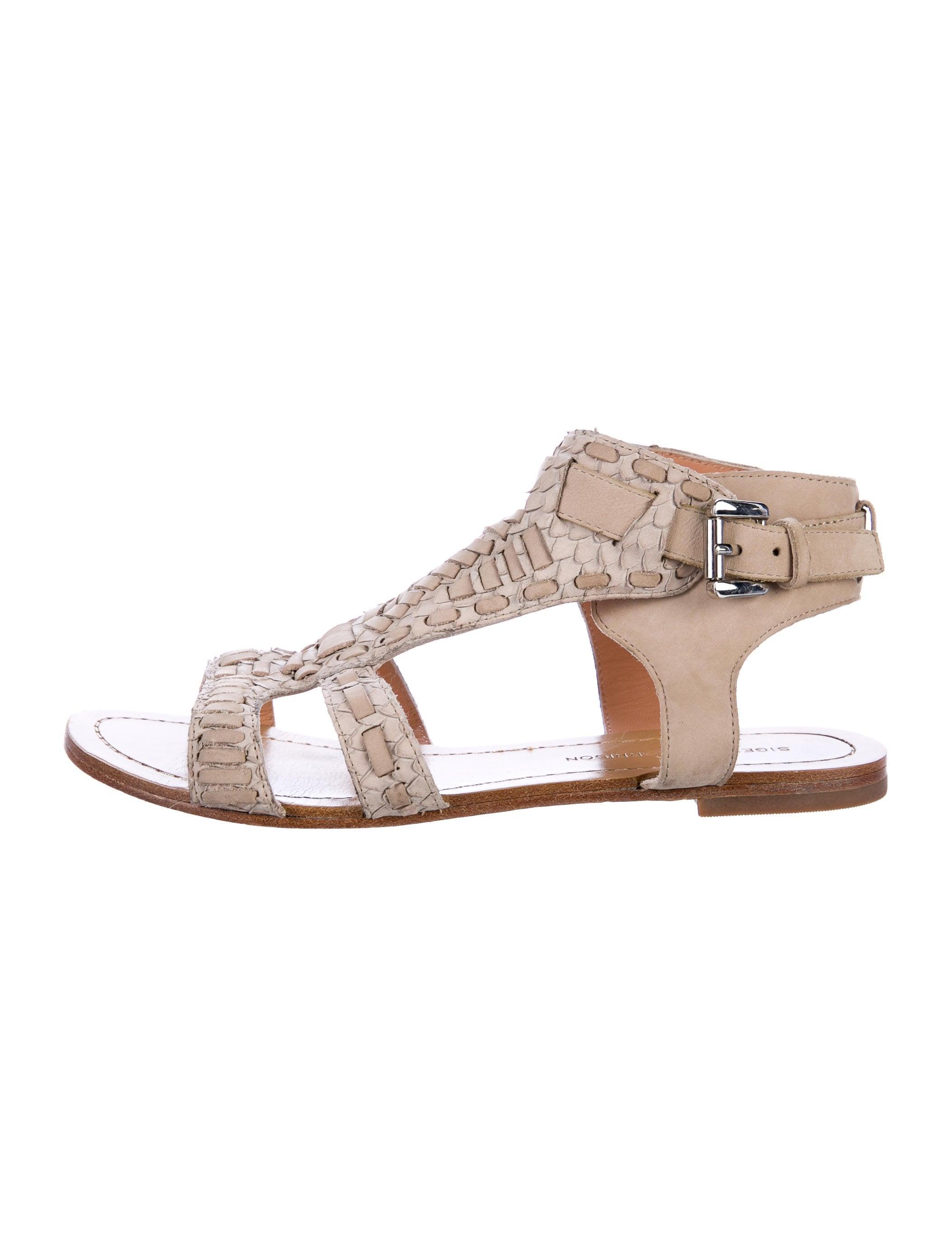Sigerson Morrison Embossed Gladiator Sandals free shipping big discount PslDkJw