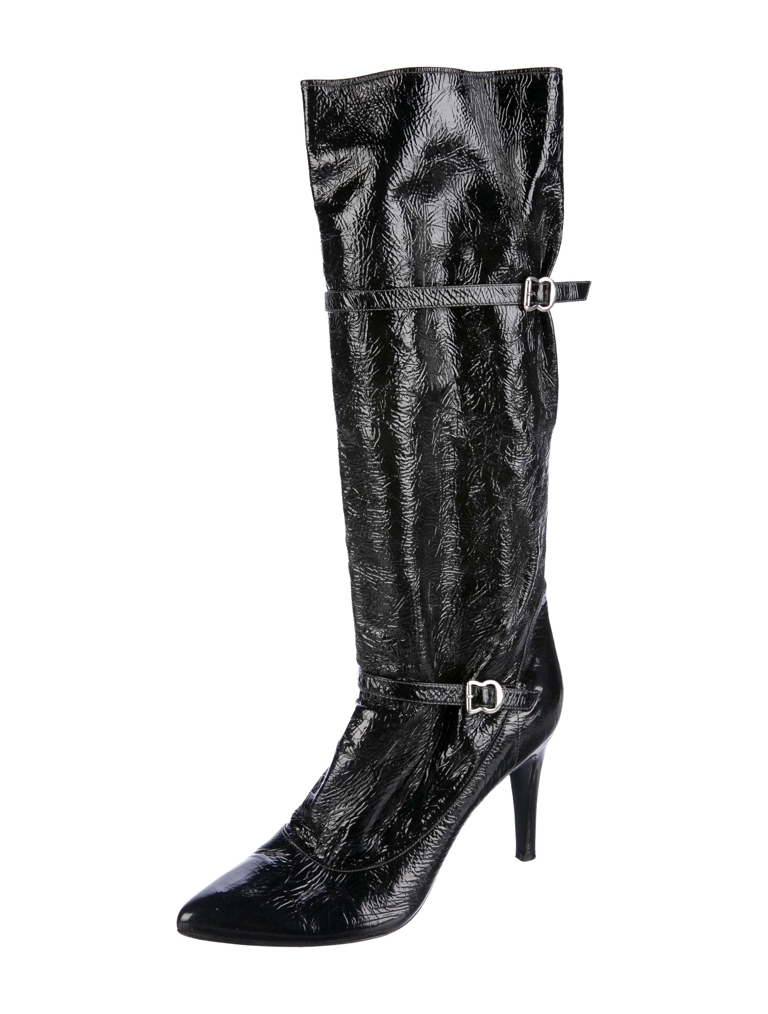 buy cheap low price cheap classic Sigerson Morrison Patent Leather Knee-High Boots sale real u8dKQvXj