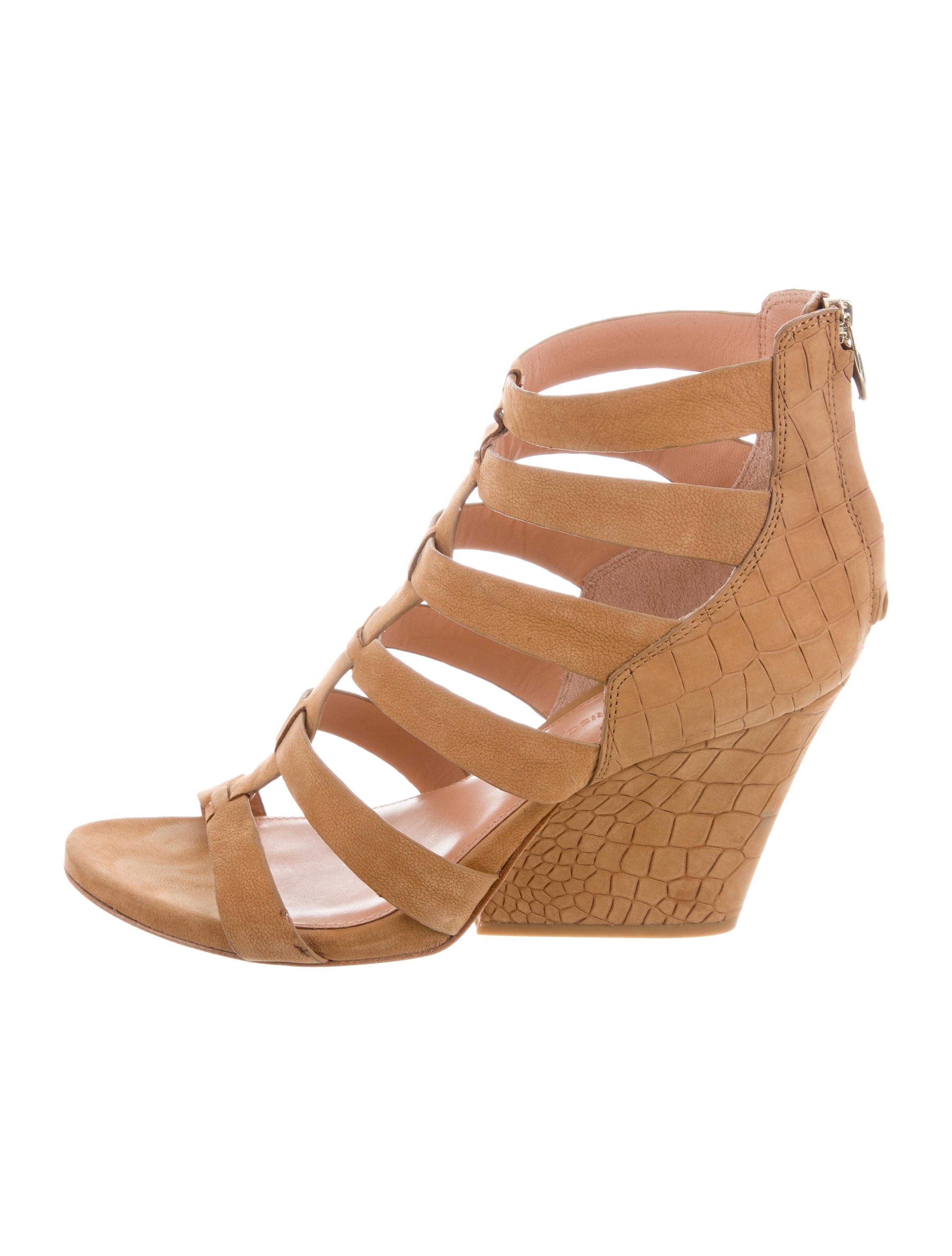 Sigerson Morrison Nubuck Cage Sandals affordable cBDiQGKvw