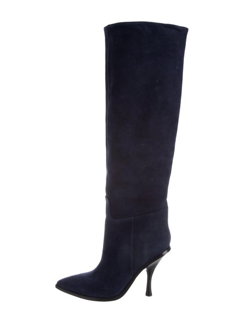 Sigerson Morrison Suede Knee-High Boots Blue