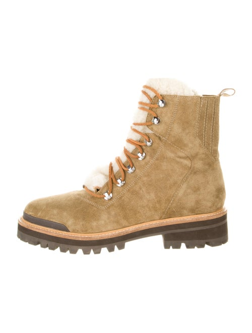 Sigerson Morrison Suede Hiking Boots Green