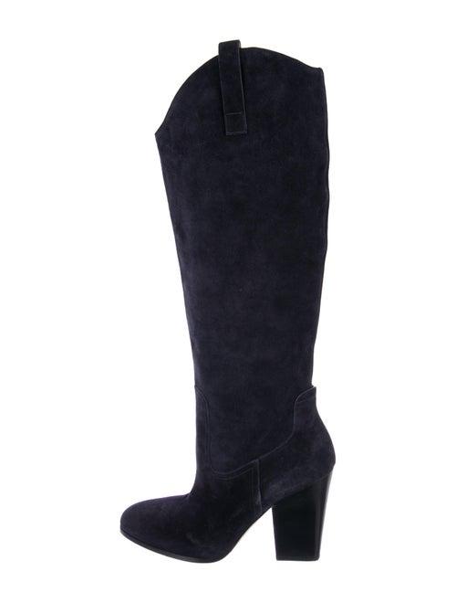 Sigerson Morrison Suede Knee-High Boots Black