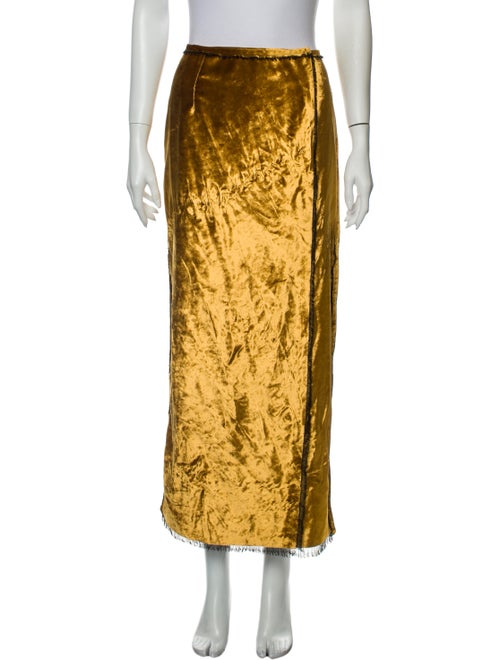 Sid Neigum Midi Length Skirt Yellow