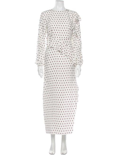 SIR The Label Silk Long Dress White