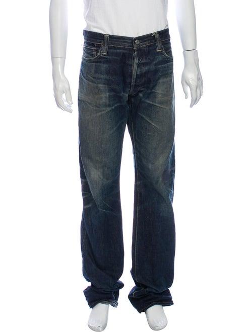Skull Jeans by an Alchemist Straight-Leg Jeans Blu