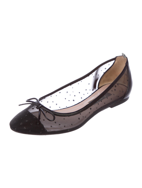 Sarah Jessica Parker Mesh Round-Toe Flats discount tumblr free shipping original with credit card Tumn2Qs2kj