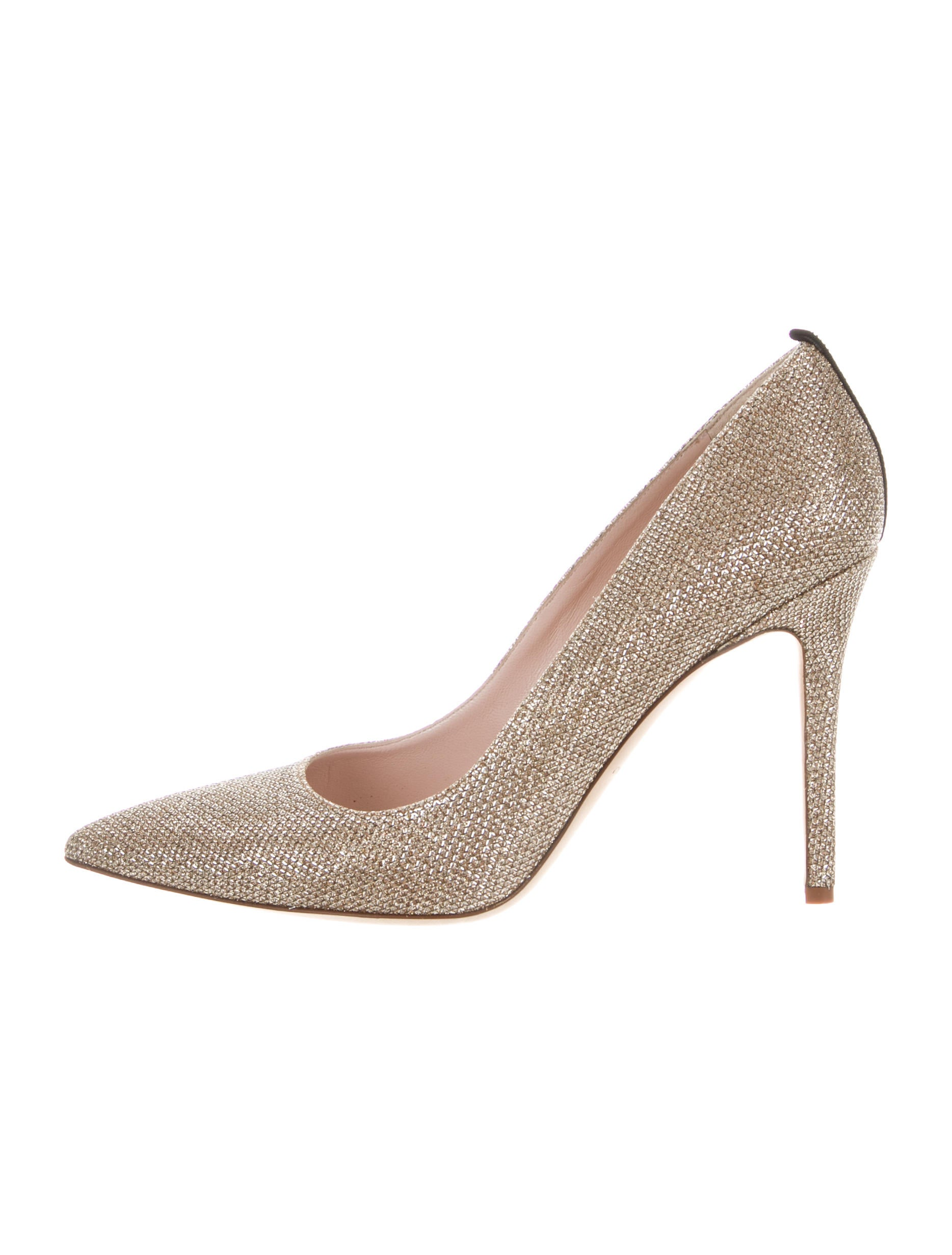 free shipping excellent Sarah Jessica Parker Lurex Pointed-Toe Pumps clearance visa payment 4E8XdeIoy