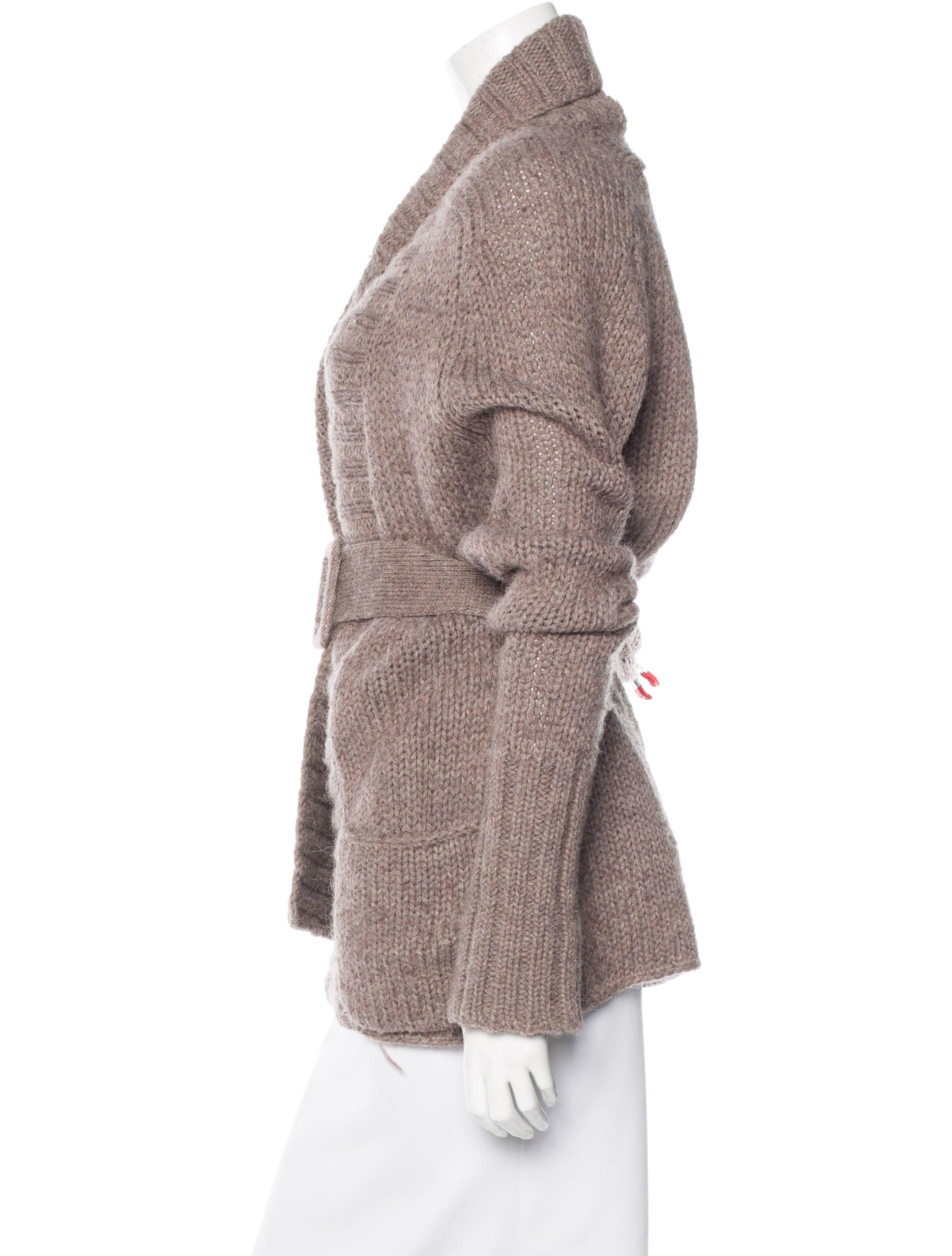 dorothee schumacher alpaca blend belted cardigan clothing wsk20159 the realreal. Black Bedroom Furniture Sets. Home Design Ideas