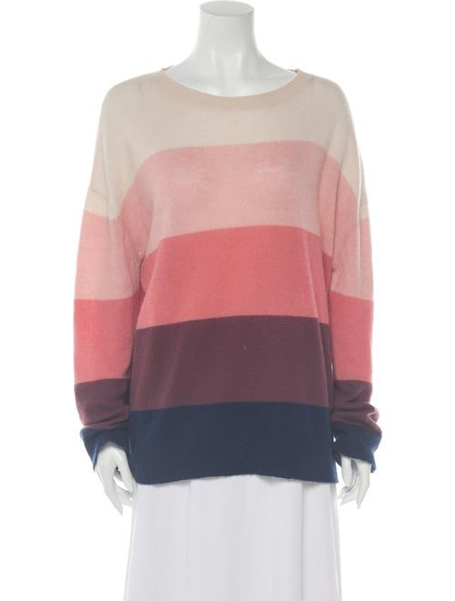 Skull Cashmere Cashmere Striped Sweater Pink