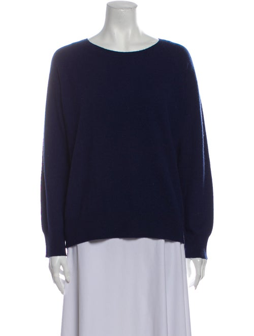 Skull Cashmere Cashmere Scoop Neck Sweater Blue