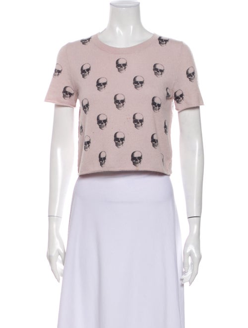 Skull Cashmere Cashmere Printed Sweater Pink