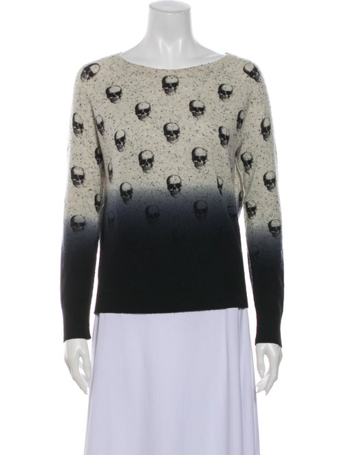 Skull Cashmere Cashmere Printed Sweater - image 1