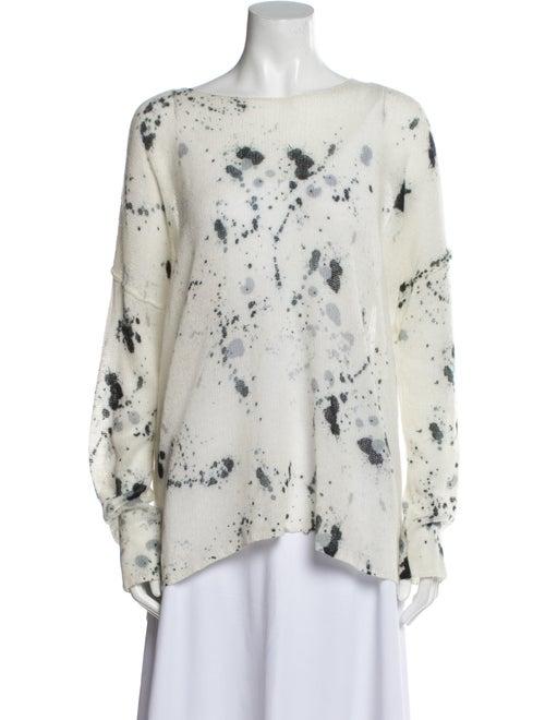 Skull Cashmere Cashmere Tie-Dye Print Sweater