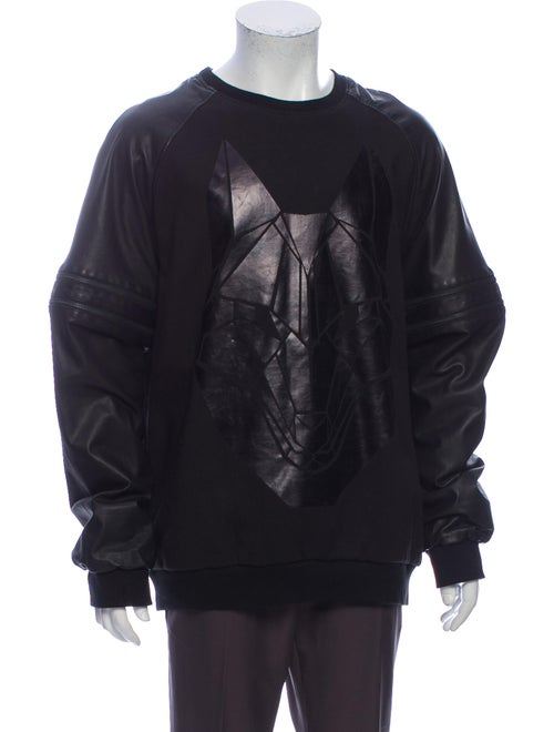 Skingraft Graphic Print Crew Neck Sweatshirt Black