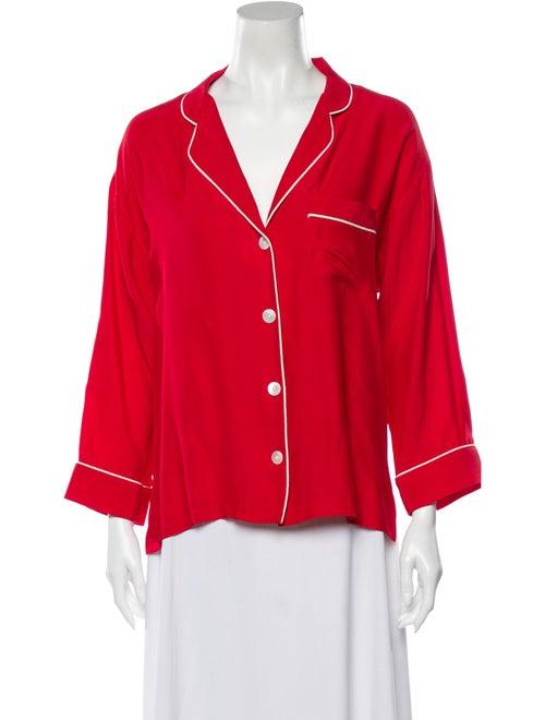 Sleepy Jones Silk Pajamas Red