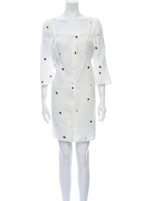 Sleeper Linen Mini Dress White