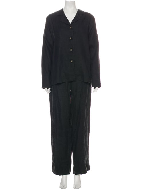 Sleeper Linen Pajamas Black