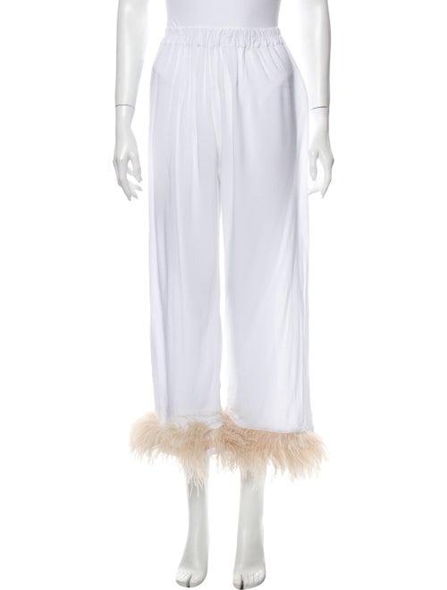 Sleeper Feather Trim Pajamas White