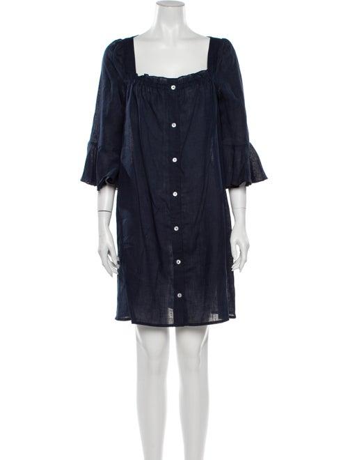 Sleeper Linen Mini Dress Blue