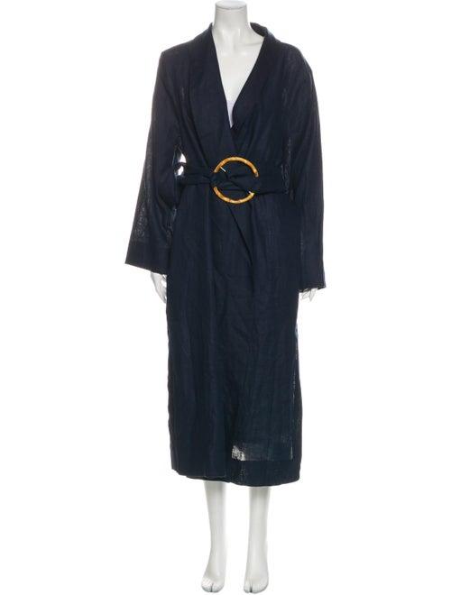 Sleeper Linen Trench Coat Blue
