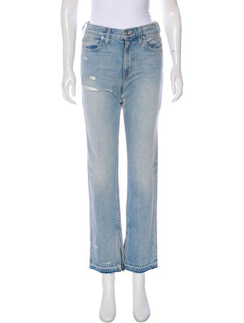 Slvrlake Mid-Rise Straight-Leg Jeans Blue