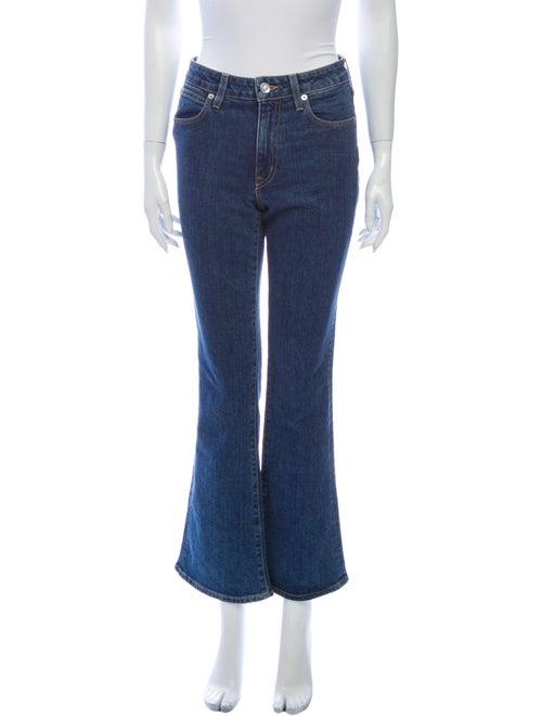 Slvrlake Mid-Rise Flared Jeans Blue
