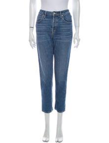 SLVRLAKE Mid-Rise Straight Leg Jeans