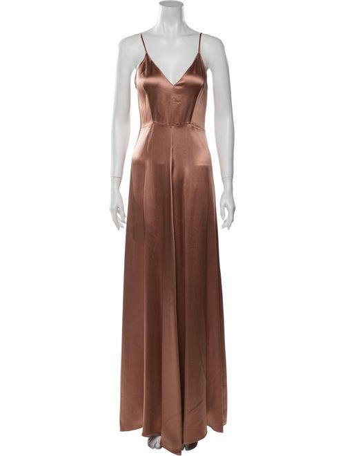 Sablyn Silk Long Dress Orange