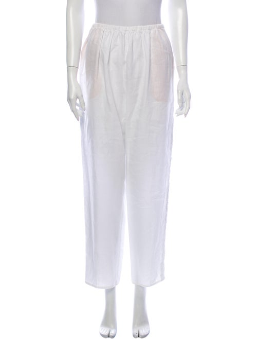 Shamask Straight Leg Pants White