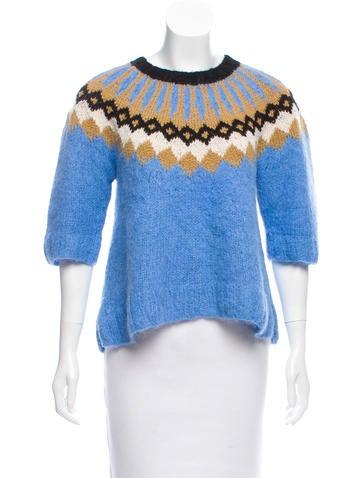 Smythe x Augden Intarsia Patterned Alpaca Sweater None