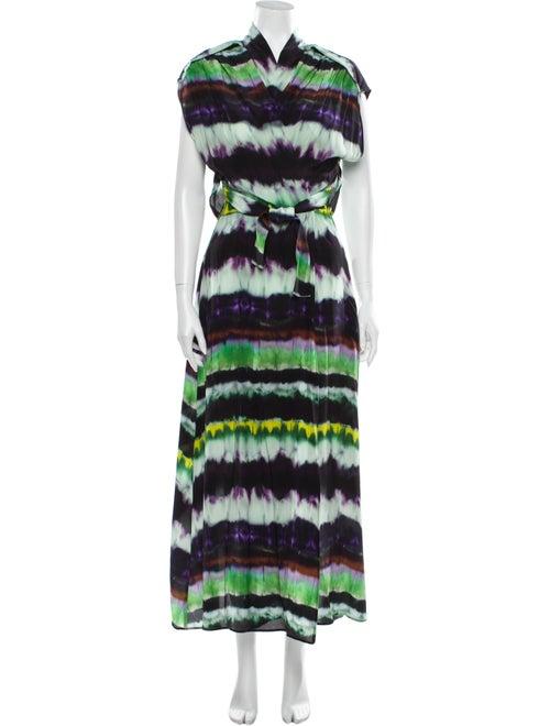 Smarteez Silk Long Dress Green