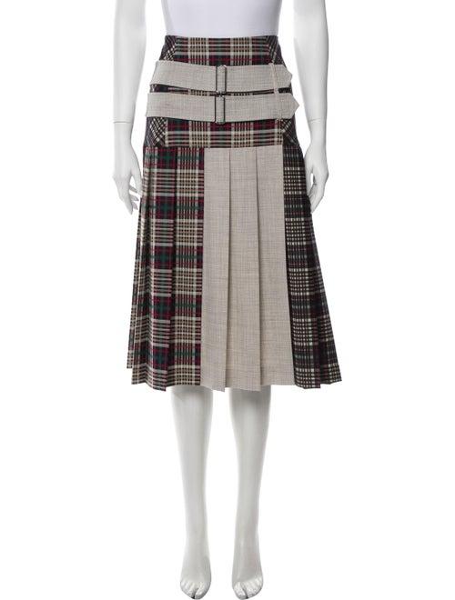 Smarteez Plaid Print Knee-Length Skirt Black
