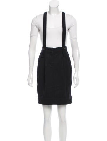 s maxmara suspender accented pleated skirt clothing
