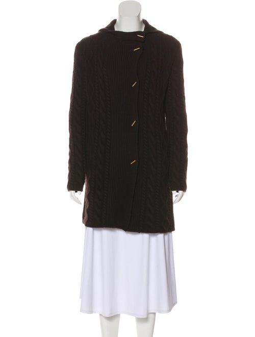 'S Max Mara Hooded Cable Knit Cardigan