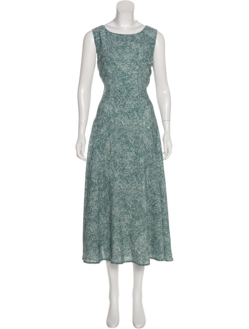 Samuji Sleeveless Midi Dress Green